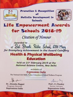 LEA Health and Physical Wellbeing Award