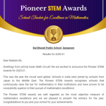 The Asian Math Circuit Pioneer STEM Award